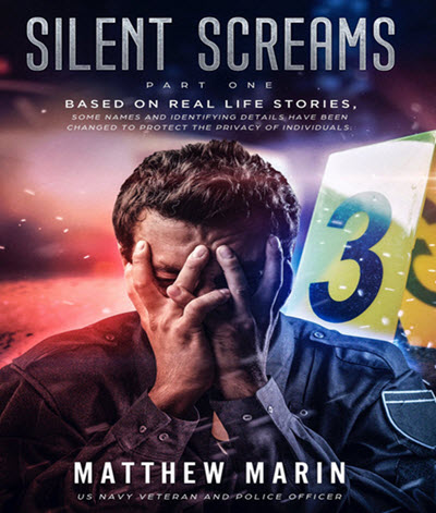 Silent Screams best-selling book cover re: PTSD, veterans, first responders